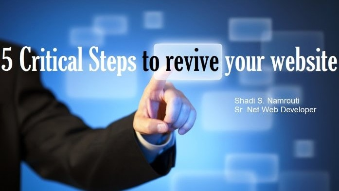 5 Critical Steps to Revive your Website